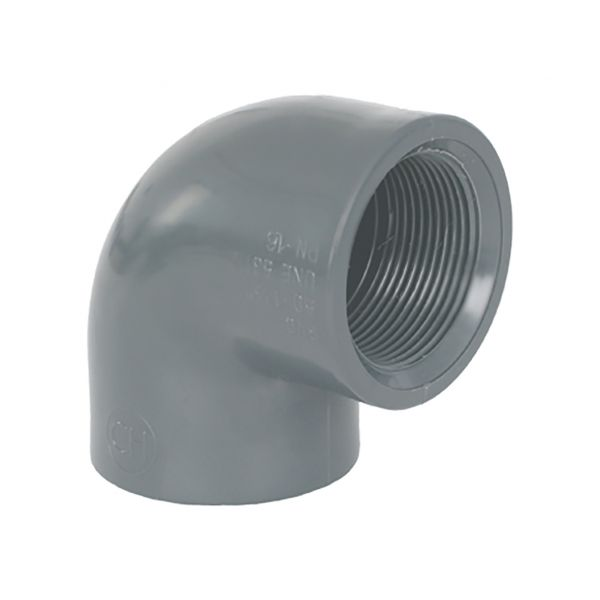 ELBOW 90º THREADED PVC