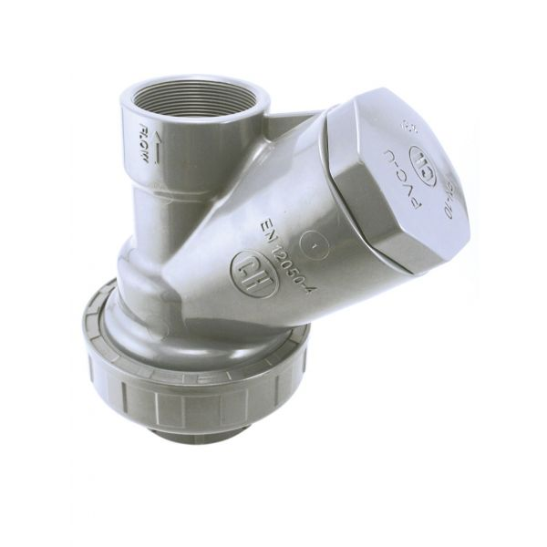 "CHECK VALVE ""Y"" WITH PVC PVC BALL - O RINGS EPDM THREAD PVC-U"