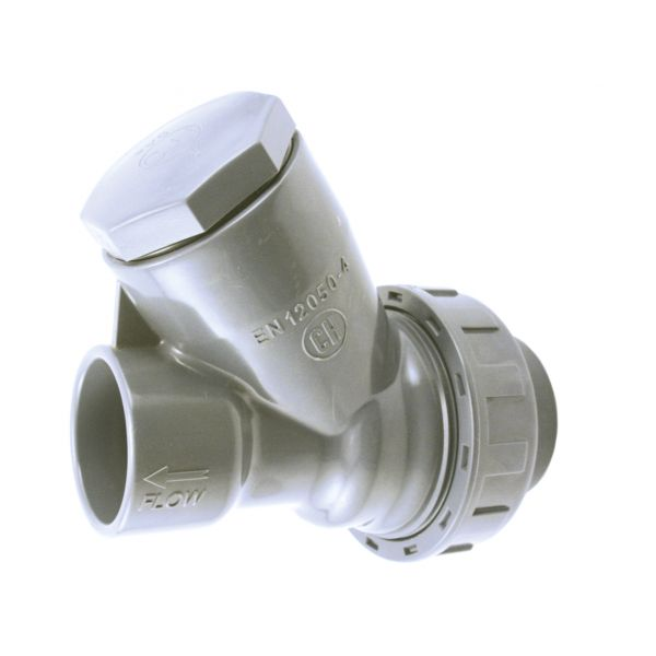 "CHECK VALVE ""Y"" WITH PVC BALL, JOINTS FPM SOLVENT PVC-U"