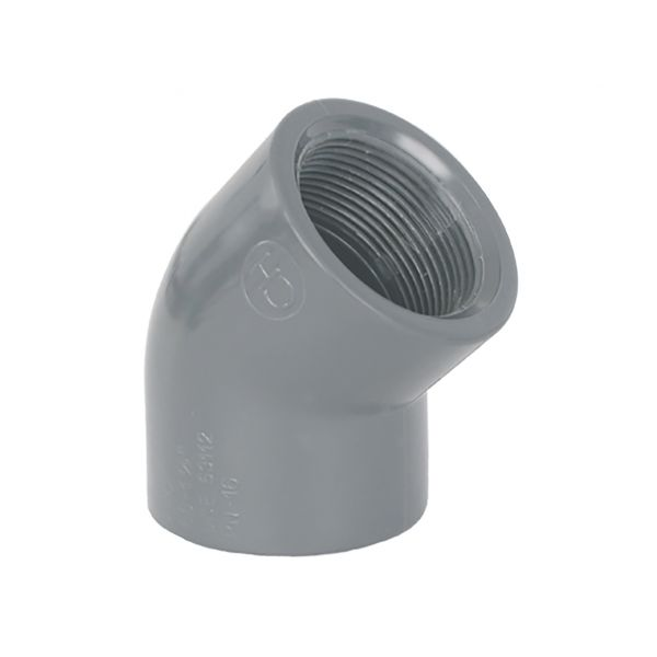ELBOW 45º THREADED PVC
